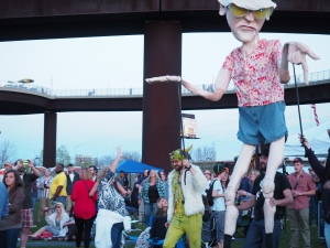 Squallis Puppeteers at GonzoFest