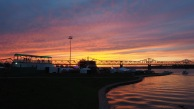 Ohio River sunset - Forecastle 2016