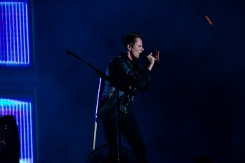 Muse performing on The What Stage on Friday
