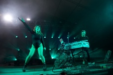 Sylvan Esso performs at That Tent (1)
